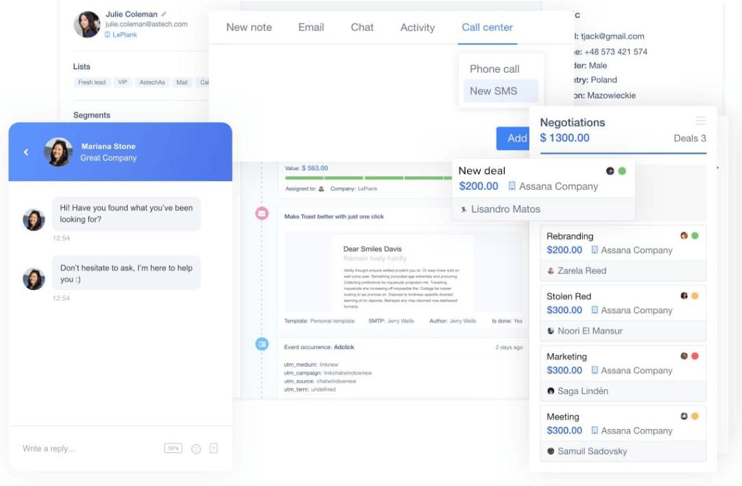 màn hình in từ User.com, một công cụ tiếp thị kỹ thuật số hàng đầu
